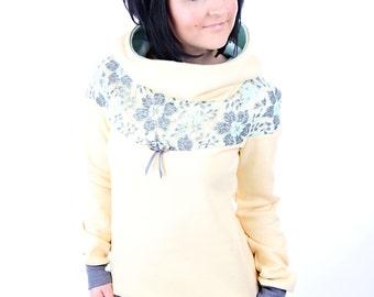 "MEKO ""Flory"" women's long sleeve lace dress yellow"