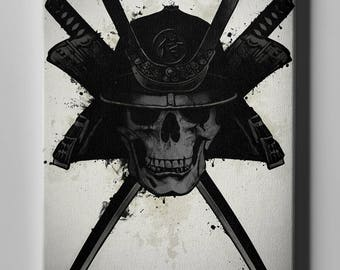 "Giclee Canvas Wall Art ""Samurai Skull"" by Nicklas Gustafsson"