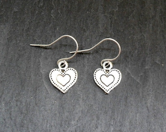 Hearts Silver Earrings
