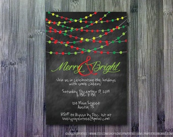 Merry & Bright Holiday Party Invitation   HP_WIN1