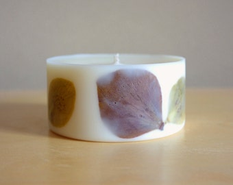 Christmas Rose Soy Wax Pillar Candle (Small)