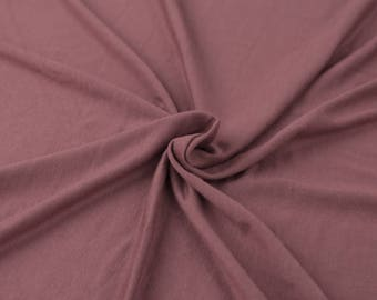 Mauve-B Light-weight 160 GSM Rayon Spandex Jersey Knit Fabric by the Yard - 1 Yard Style 13390