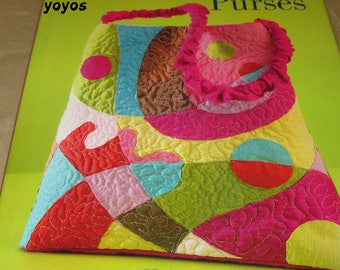 QUILTED, BAGS, PURSES, Embellished,  Projects, Totes, Clutches, Gifts for Women,  Instructions,  Illustrations, Photos, Patterns, Templates