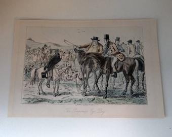 John Leech The Pomponius Ego Day Engraving 19th century