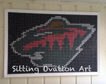 Minnesota Wild Bottle Cap Art