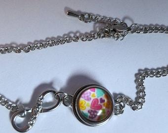 Mini Pastel Heart Infinity bracelet