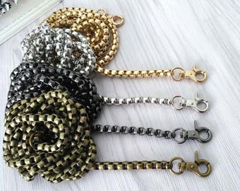 1 piece 120cm chain mesh bag with snap clip 7mm