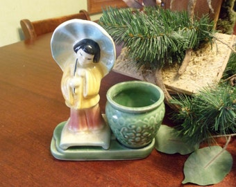 Shawnee Chinese Girl With Urn Planter