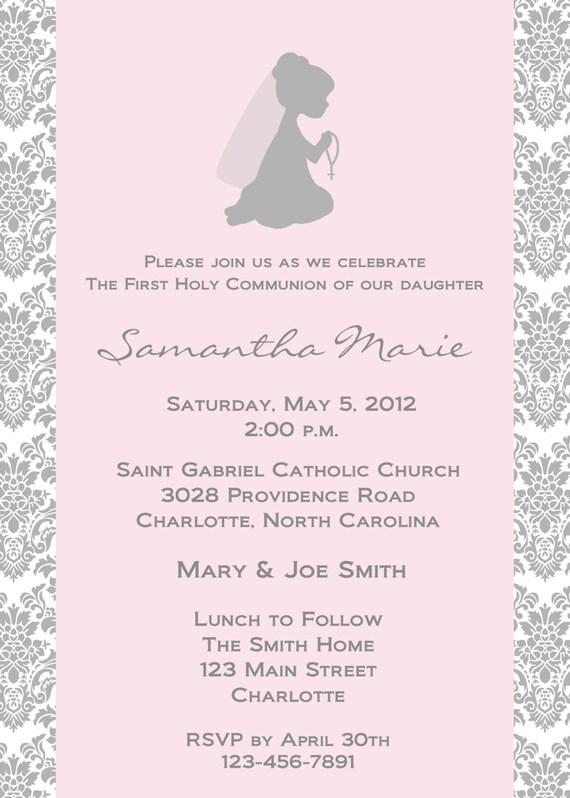 First holy communion invitation religious invitation holy stopboris Choice Image