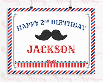 Little Man Birthday Backdrop, Mustache Birthday Backdrop, Mustache Birthday Party Decorations, Cake Table, Party Sign, Photo Booth
