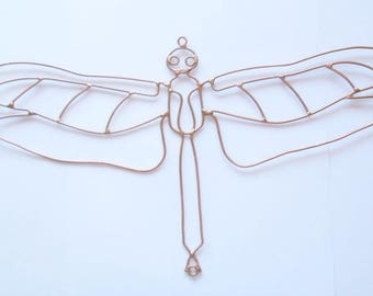 Large Copper Dragonfly Wall Or Garden Art