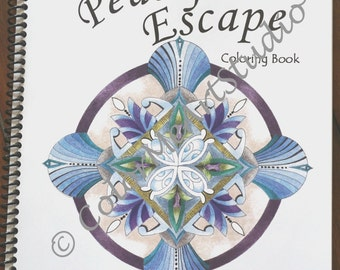On Sale, Coloring Book, Adult Coloring Book, Doodles Mandalas Coloring Book, Stress Relief, Gift, Spiral Bound Coloring Book, Relaxation