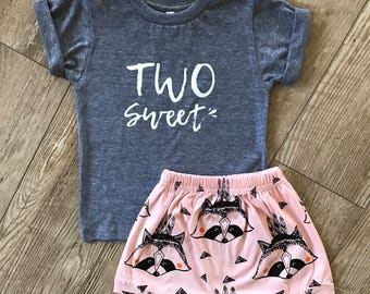 Girls Two Sweet Shirt • 2nd Birthday Shirt • Girls Two-Year-Old Shirt • Second Birthday Outfit • Toddler Birthday Shirt •Two Years Old Shirt
