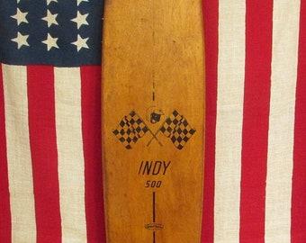 Vintage 1960s Indy 500 Wood Skateboard SportFun Street Surfer 29 Rare Board