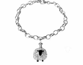Silver sheep charm bracelet, sheep charm, sheep jewellery, sheep bracelet, Welsh jewellery, Wales, sheep, Sheep gift, sheep jewelry, charm
