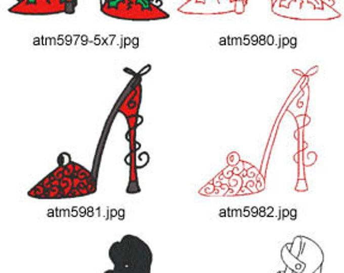Shoes ( 14 Machine Embroidery Designs from ATW ) XYZ17E