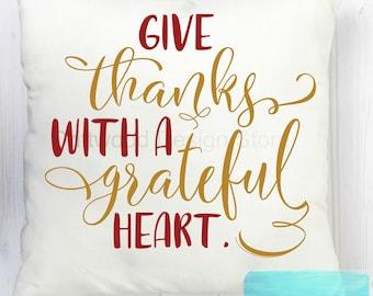 Decorative throw pillow cover ~thanksgiving decor