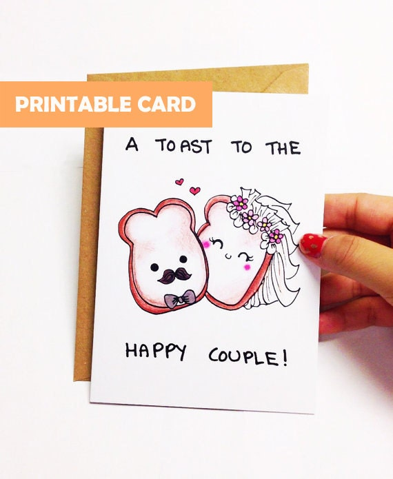 Printable wedding card funny funny Wedding Congratulations