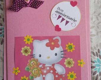 Good girl, pink birthday card. happy birthday
