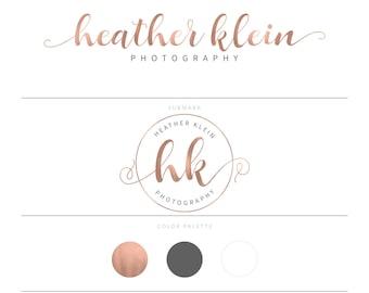 Rose Gold Logo Photography Logo Branding Package Calligraphy Logo Watermark Lash Logo Design Eyelash Logo Realtor Logo Real Estate Doula