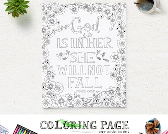 Bible Verse Coloring Page She is clothed Printable Proverbs