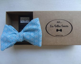 Japanese fabric blue Baptist knotted bow