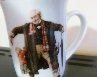 vintage mug Norman Rockwell- Saturday Evening Post