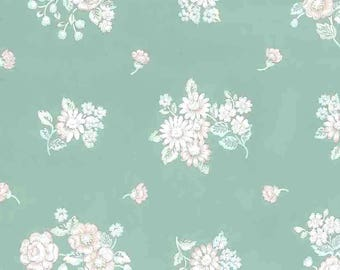 Green Floral Vintage Wallpaper Pink Blue White Bouquets SM2143 Double Rolls