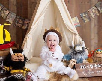 S plain toddler teepee / photo prop tent / Kids play tent/toddler teepee photo prop