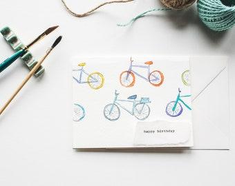 Bicycles Birthday Card, Bikes Birthday Card, Bicycles Card, Bikes Card, Cycling Bicycle Card, Card for Cyclist, Cyclist Birthday Card