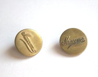 Mascoma Work Buttons x 2 Circa 1900 N.H.