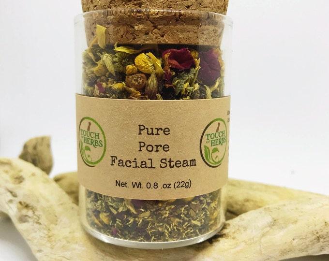 Pure Pore Facial Steam - Facials - Natural skincare - 1 glass will give up to 5 steams - Skincare - herbal skincare - facial steam - organic