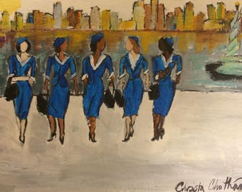 Stewardesses in New York