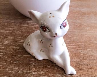 Vintage White Cat Figurine
