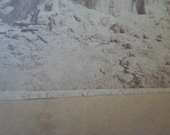 Vintage Geyser 1900s Stereoscopic Views Paper History Reuse Recycle Photo Repurpose