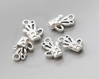 20 Pieces Oxidized Silver Tone Base Metal Charms-Pen Holder 18.7x11.7mm (150X-V-25)
