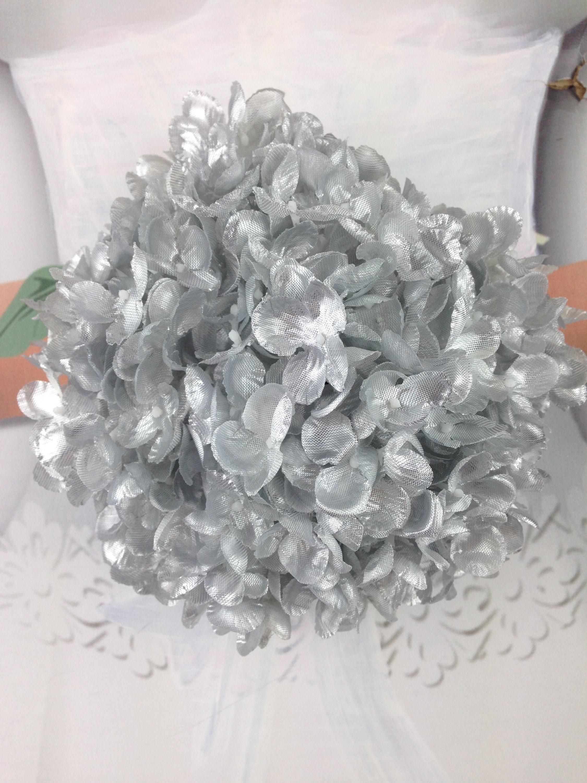 New metallic silk hydrangea gold silk flowers silver silk flowers sold by faveursdemariage mightylinksfo
