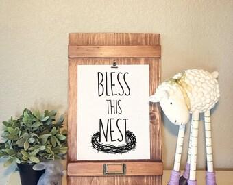 Bless this Nest, Digital Print