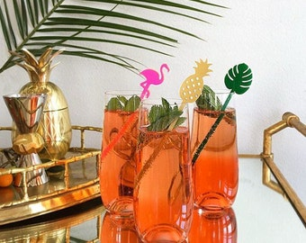 Tropical Party - Stir Sticks - Set of 5