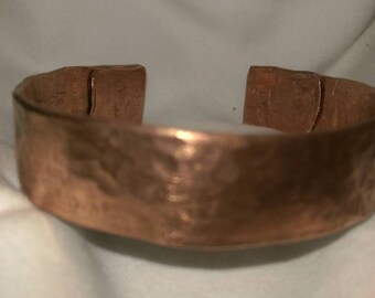 Handcrafted Copper Bangle made from re-purposed materials