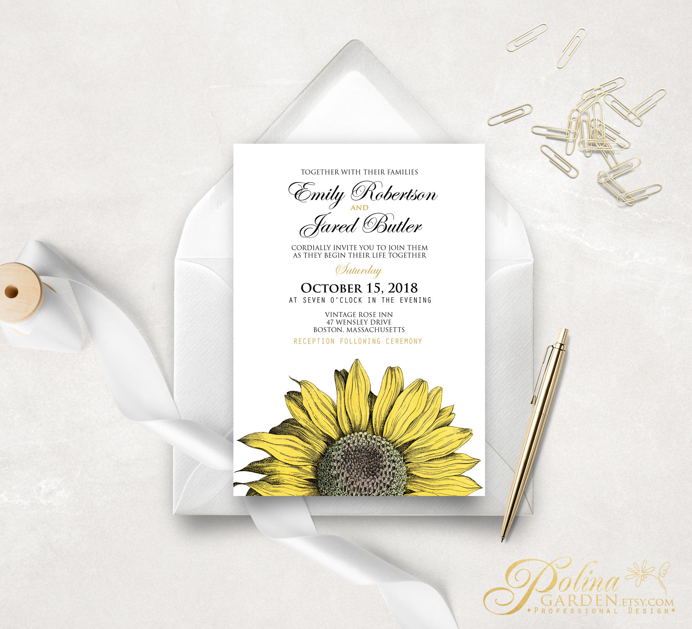 Printable Wedding Invitation Country Wedding Invitation Fall