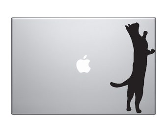 Laptop sticker - Computer Stickers - Laptop Decal - Cat stickers - Black cat decals - Car stickers - personalized sticker - macbook Decal