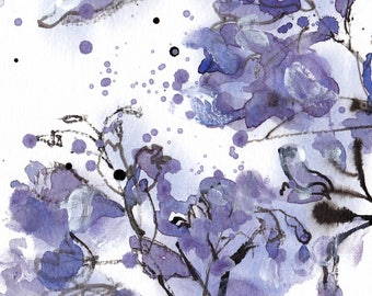 Purple Jacaranda Print, Gift For Mom, Purple Floral print, Gift for her, Living Room Wall Art, Violet Floral Art, Valentines gift for Her
