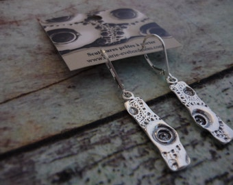 Silver earrings, sterling silver earrings