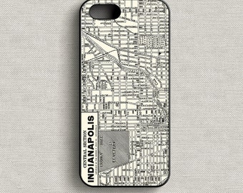 Vintage Map of Indianapolis Indiana Phone Case iPhone 5 5C 6 6+ 7 7+