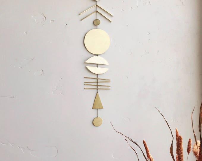 """Brass Wall Hanging - """"arine"""" - made-to-order - 2 week turnaround time"""