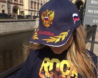 Russian Emblem Blue Hat