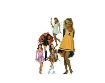 2000 Sewing Pattern - Butterick 3185 - Hippie Cheerleader Vampire Costume