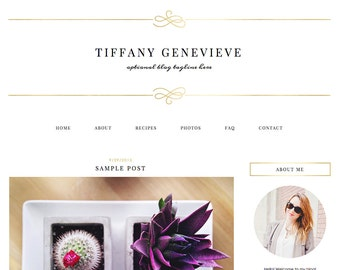 """Blogger Template, Blog Template - """"Tiffany 