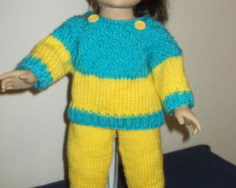 Dolls knitted sweater and pants